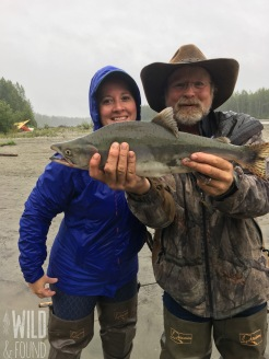 My only pink salmon with owner, Rhett!